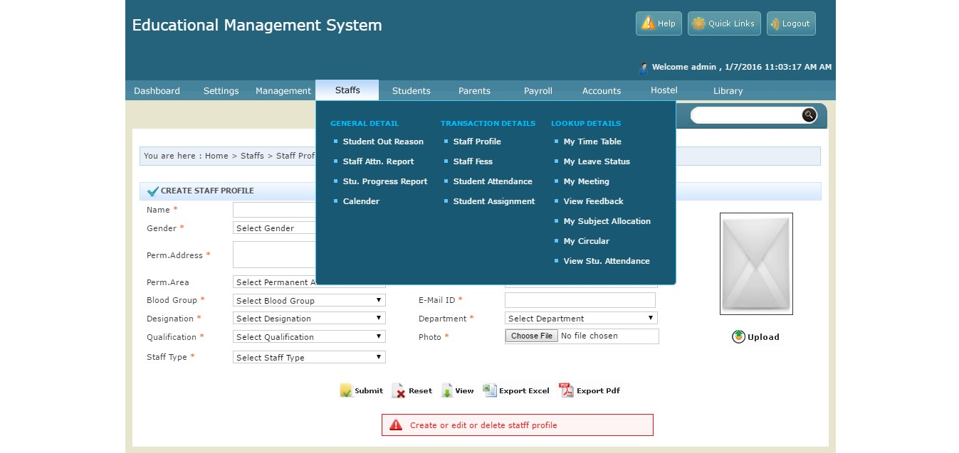 Asp Net Based College Management System College Erp With