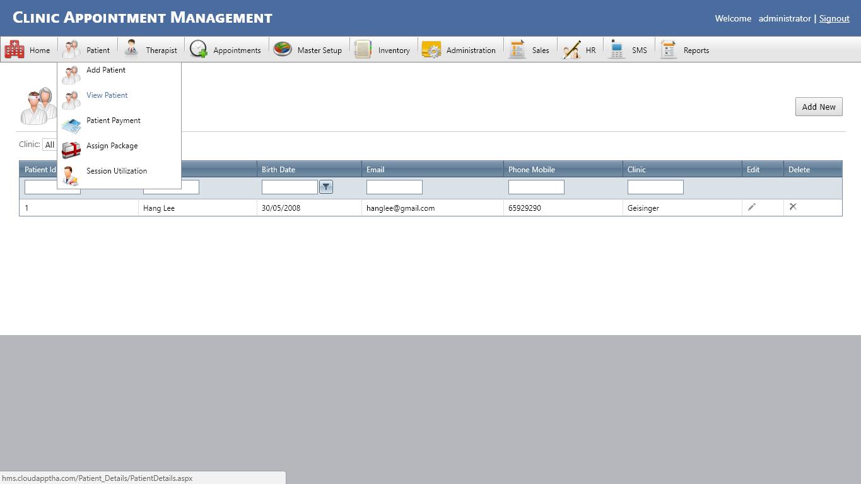 Clinic Management ERP