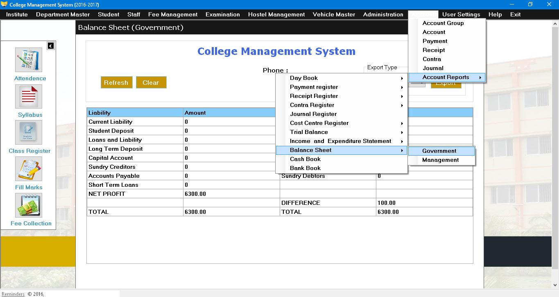 Desktop based College Management System, ERP for Educational