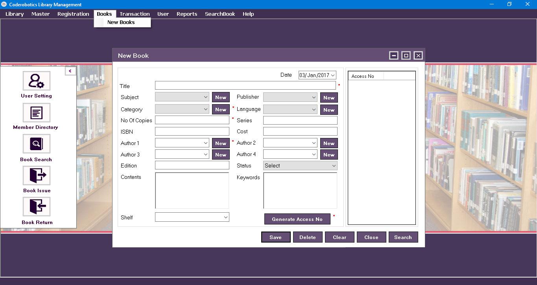 Desktop Based Library Management System Library