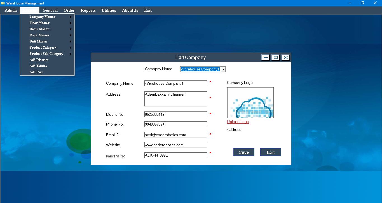 Cold Storage Management Desktop Based Warehouse Software