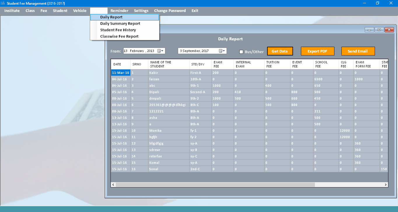 Desktop Fee Automation System Fee Management System For